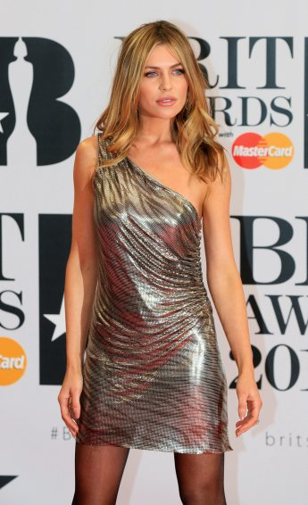 British model Abbey Clancy arrives for the BRIT Awards at the O2 arena in London, Britain, February 24, 2016. REUTERS/Paul Hackett