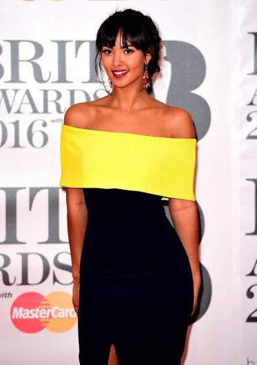 Maya Jama arriving for the 2016 Brit Awards at the O2 Arena, London. PRESS ASSOCIATION Photo. Picture date: Wednesday February 24, 2016. See PA story SHOWBIZ Brits. Photo credit should read: Ian West/PA Wire