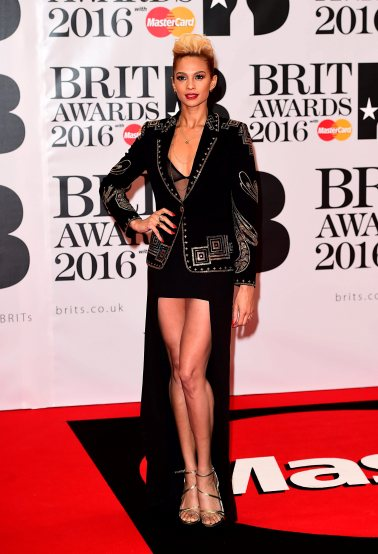Alesha Dixon arriving for the 2016 Brit Awards at the O2 Arena, London. PRESS ASSOCIATION Photo. Picture date: Wednesday February 24, 2016. See PA story SHOWBIZ Brits. Photo credit should read: Ian West/PA Wire